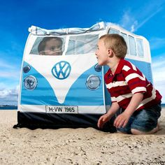 Kids VW Camper Van Tent #tech #flow #gadget #gift #ideas #cool