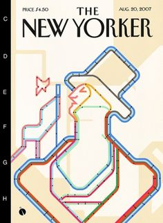 The New Yorker Eustace Tilley Contest on the Behance Network #map #cover #subway #illustration #yorker #new