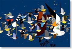 clementine studio: Charley Harper #charley #birds #illustration #harper