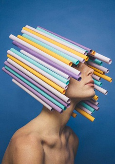 Playful Fashion Portraits Featuring Paper Art by Kristoffer Marchi