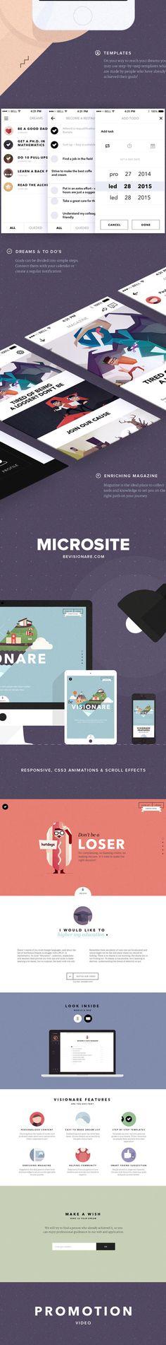 Visionare IOS Mobile App on Behance #app #presentation