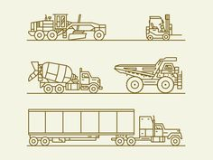 Vehicles #icon #picto #line