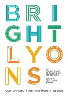 ++ #bright #tida #tep #gotham #lyons #postcard #brooklyn #typography