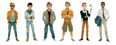 San_Fran_mag_dating_spots.png (PNG Image, 1600×635 pixels) #illustration #characters #bosma #sam