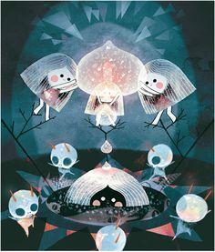 Amélie Fléchais #illustration #fairytale #ufo