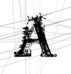Garamond powerlines #powerlines #line #black #typography