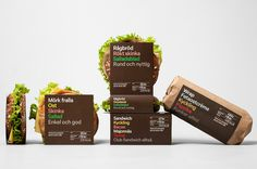 7 eleven sandwich packaging by BVD #packaging #eleven #food