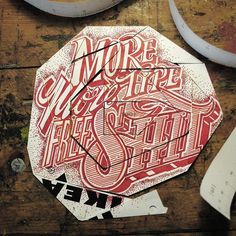 Lettering by Rob Draper. Found on http://www.fromupnorth.com #type #found #objects