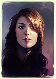 2DArtist Self Portrait by Charlie Bowater on deviantART #bowater #charlie