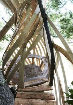 Dartmoor Treehouse by Jerry Tate Architects #furniture
