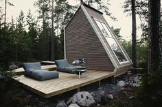 Nido — Robin Falck #interior #design #wood #nature #architecture #outside #forest