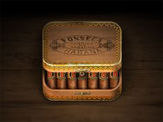 Cigar Box iOS Icon #icon #iphone #application #ipad