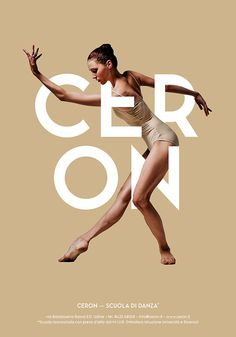 Ceron Dance School - Posters Design on Behance #poster #typography #dance