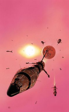 Peter Elson - M̲elt #sci fi #space #spaceship #rocket #planet #exploration #missiles