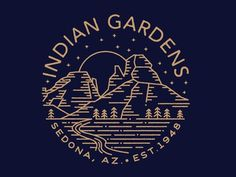 Indian Gardens II by Brian Steely #identity #mountain #arizona #logo