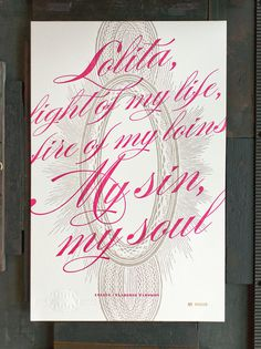 Banned Books Week Broadsides and Posters #pink #print #letterpress #typography
