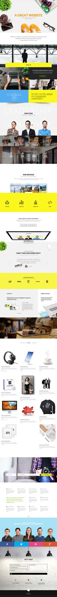 website, yellow, concept, one page, animation, grid
