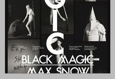 OK200 / Graphic Design Studio / Amsterdam / Max Snow / Black Magic #magic #black