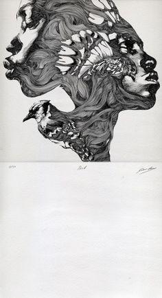 GALLERY/gabriel moreno #gabrielmoren #portrait #drawing #insane