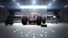 Future Cars, nice fluoro lighting