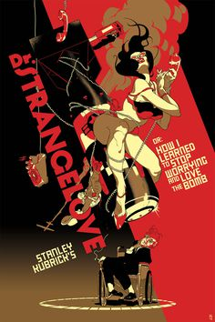 Kubrick Strangelove poster #movie #art #illustration #type #cinema
