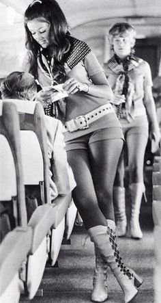 Buamai - 504x_q15.jpg 425×797 pixels #white #girl #stewardess #black #airline #and