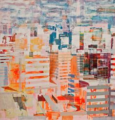 Semi-abstract Urban Scenes by Nuri Kuzucan - JOQUZ #urban #abstract #city #art #painting