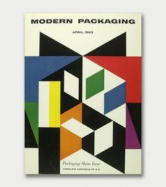 Walter Allner  Modern Packaging, 1950s/60s / Aqua-Velvet