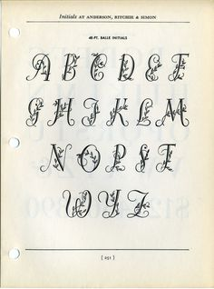 Ballé initials type specimen #type #specimen #typography