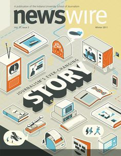 Newswire cover #cover #print #magazine #illustration