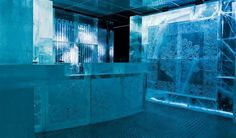Inside the ice hotel #hotel #ice #art