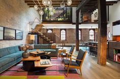 Tribeca Loft by Andrew Franz Architect PLLC #design #interiors #living #ideas #room