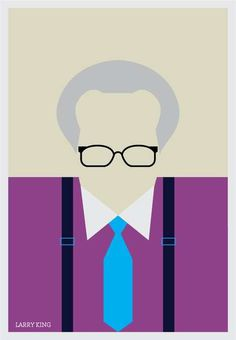 Larry King #minimalistic #movies #design #graphic #posters #minimal #poster #minimalist