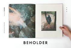 Beholder #type #promotion #layout #book #publication