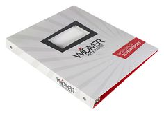 2 Pocket 3 Ring Binder With Window for Widmer Interiors