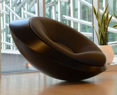 The UFO – Unidentified Furniture Object rocking chair is a futuristic lounge chair. Inspired by the conventional flying saucers or capsule