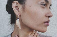 ZLABA #woman #earring #zlaba #jewelry #coral