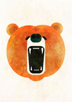 Animals : Alvaro Tapia Hidalgo #bear #illustration #art