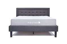 nectar's elegant platform Full bed frame with headboard - full furnished look