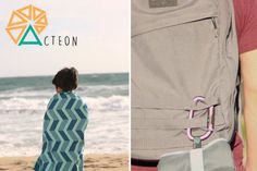 The Acteon #antibacterial #beach #towel is ultra #compact and super soft! A superior #travel companion!