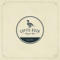 Coffee Duck on Typography Served #logo #brand