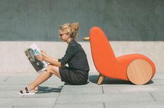 A Lounge Chair Inspired by a Wheelbarrow #chair #lounge