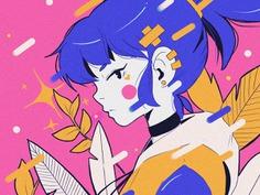 Manga character design. Anime illustrations