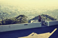 Griffith #griffithpark #park #bike #bicycle #shadow #city #LosAngeles #photography