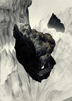displaced | Flickr - Photo Sharing! #mountain #gabriel #pulecio #inks #displaced #lustix #paper