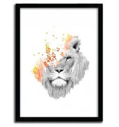 If I roar (The King Lion) by Budi Satria Kwan #print #art