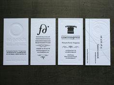 Letterpress Business Cards by Fabien Barral
