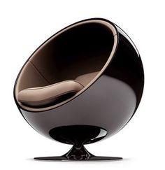 mnblg:// Eero Aarnio 1965 // #seat #design #black