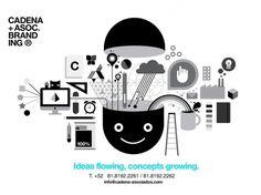 CADENA+ASOC. BRANDING #happy #white #design #black #ideas #illustration #and #cadena