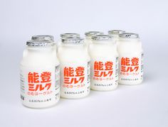 能登ミルク #packaging, #bottle
